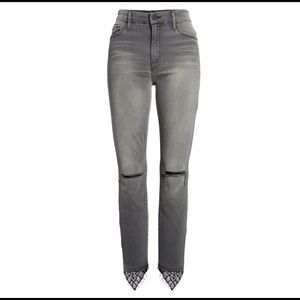MOTHER high waist ankle skinny jeans Lacey gray 32